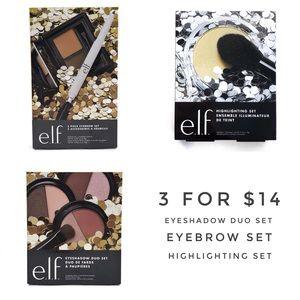ELF Highlighting Set, Eyebrow Kit, Eyeshadow Set